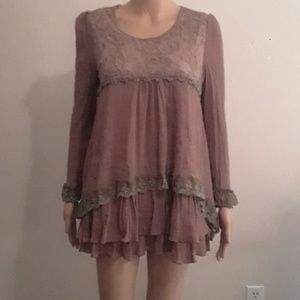 Gauze and Lace boho ladies top